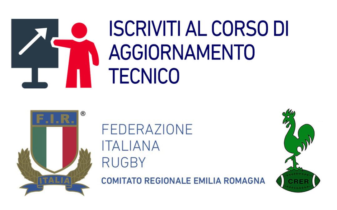 CORSO DI AGGIORNAMENTO TECNICO LIVELLO 1 IL 12 APRILE 2021